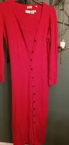 Newport News red sweater dress 2 layers